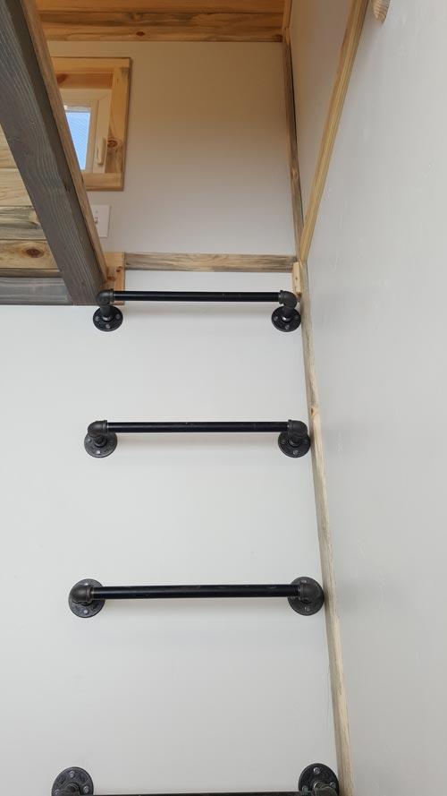 Loft Ladder - Tiny Solar Home by Alpine Tiny Homes