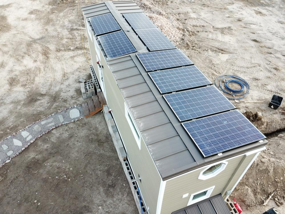 Solar Panels - Tiny Solar Home by Alpine Tiny Homes