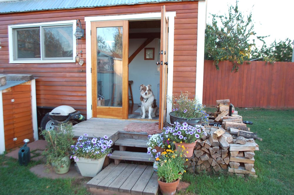 French Doors - Tiny Timber House