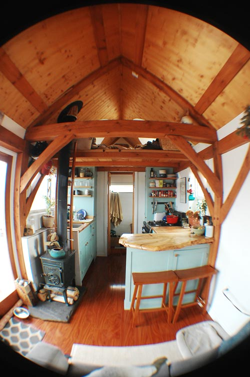 Interior View - Tiny Timber House