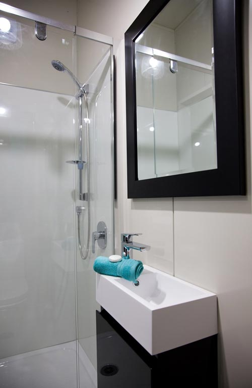 Sink & Shower - Custom Tiny by Absolute Tiny Houses NZ