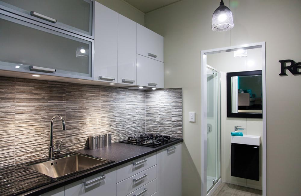Modern Kitchen - Custom Tiny by Absolute Tiny Houses NZ