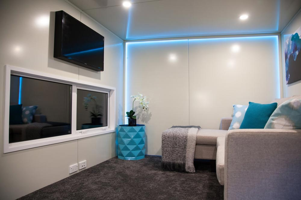 Lounge Area - Custom Tiny by Absolute Tiny Houses NZ