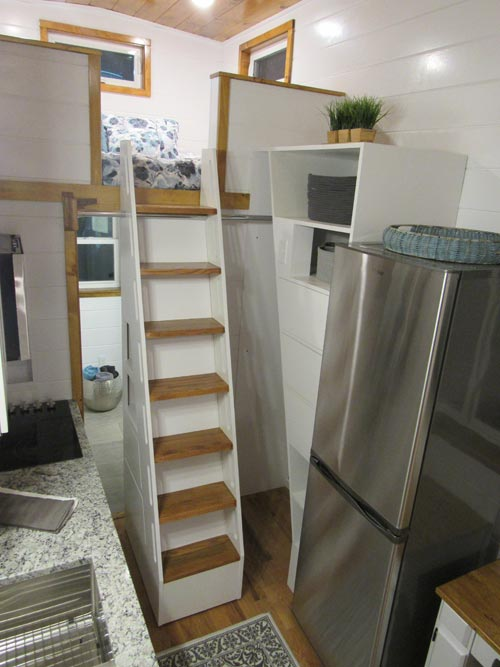 Refrigerator & Stairs - Movie Star by Incredible Tiny Homes