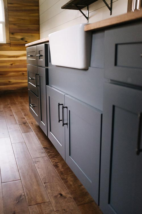Gray Shaker Cabinets - Noah by Wind River Tiny Homes