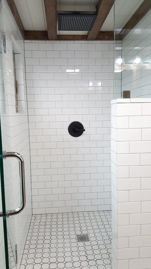 Tile Shower - Phoenix by Alpine Tiny Homes