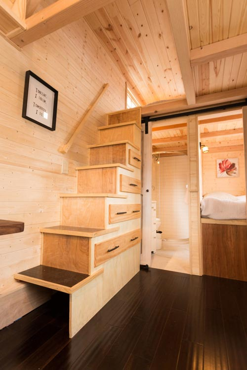 Storage Stairs - Porchlight by Hideaway Tiny Homes