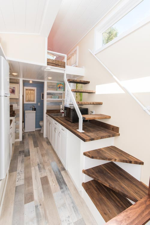 Loft Stairs - Siesta at Tiny House Siesta