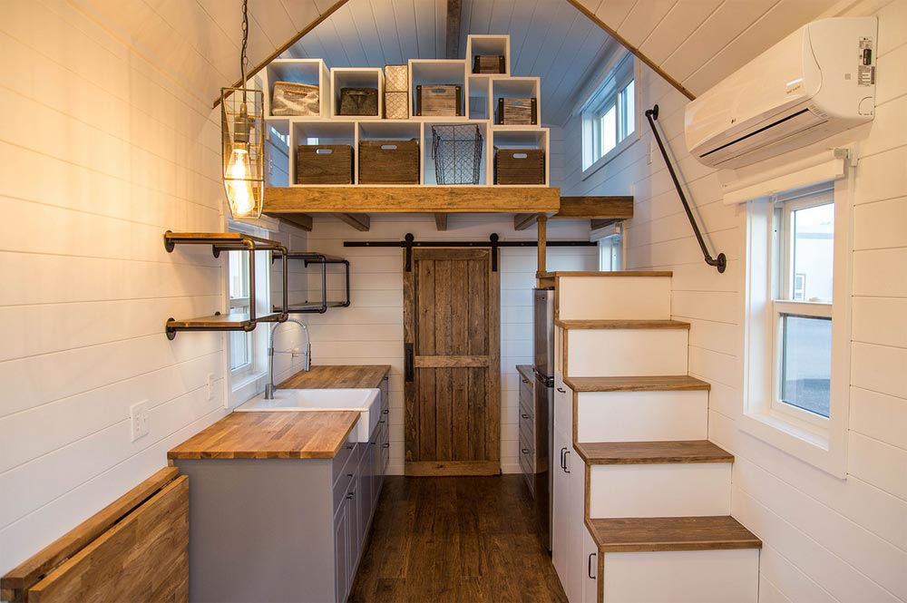 Kitchen & Loft - Farmhouse Take Five by Liberation Tiny Homes