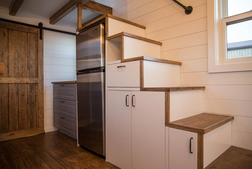 Storage Stairs - Farmhouse Take Five by Liberation Tiny Homes