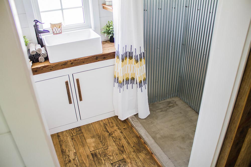 Concrete Shower Pan - Farmhouse Take Four by Liberation Tiny Homes