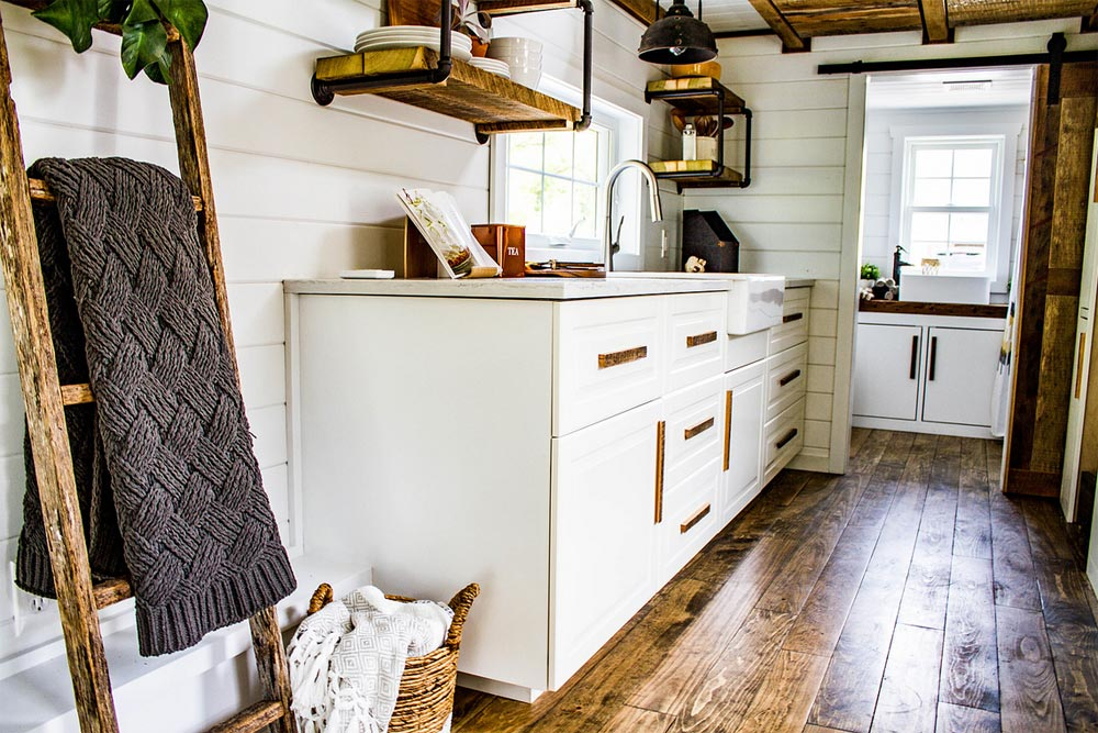 White Cabinets - Farmhouse Take Four by Liberation Tiny Homes