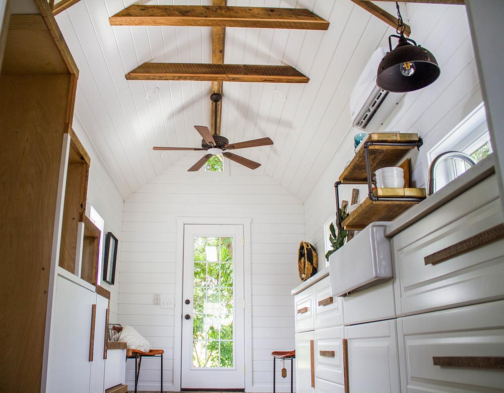 Exposed Beam Ceiling - Farmhouse Take Four by Liberation Tiny Homes
