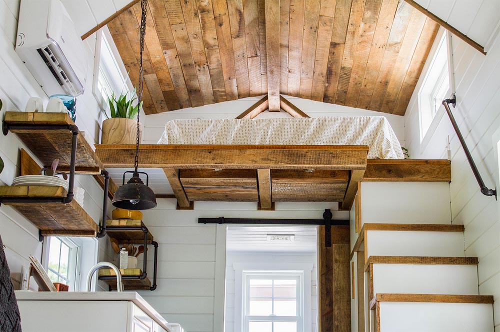 Barn Wood Ceiling - Farmhouse Take Four by Liberation Tiny Homes