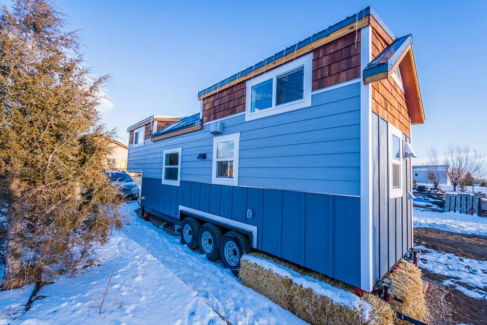Rear View - Tara's 33' Gooseneck Tiny House by Mitchcraft Tiny Homes