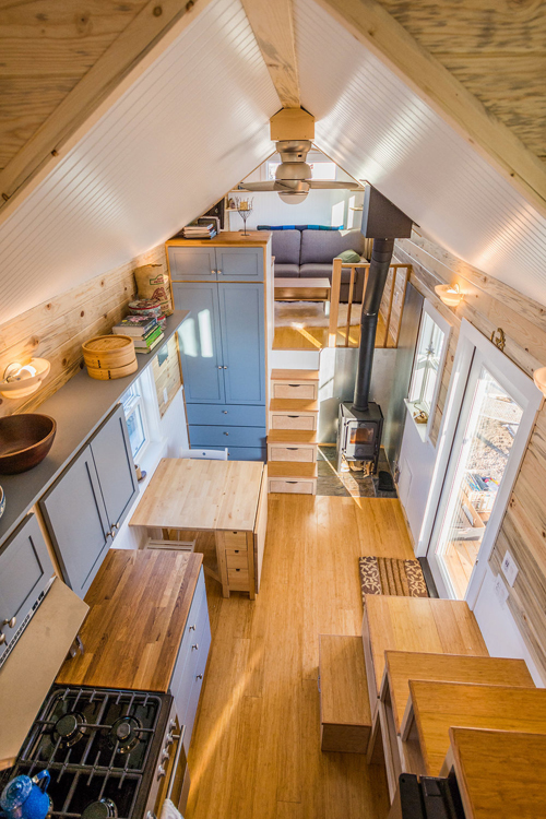 Kitchen & Dining - Tara's 33' Gooseneck Tiny House by Mitchcraft Tiny Homes