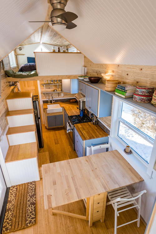 Interior View - Tara's 33' Gooseneck Tiny House by Mitchcraft Tiny Homes