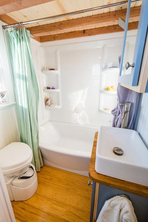 Bathroom - Tara's 33' Gooseneck Tiny House by Mitchcraft Tiny Homes