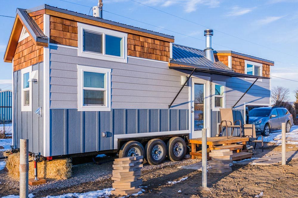 Exterior View - Tara's 33' Gooseneck Tiny House by Mitchcraft Tiny Homes