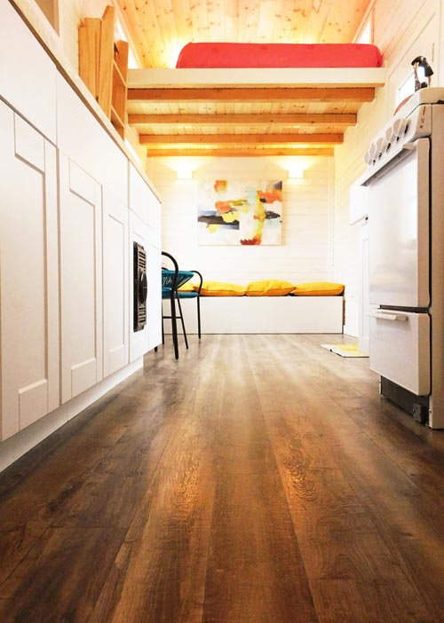 Vinyl Flooring - Artist's Tiny House by Tiny Idahomes