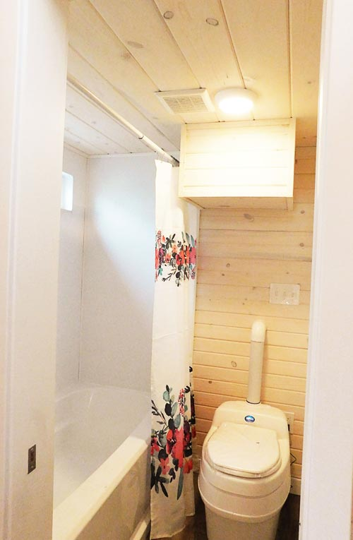 Full Bathtub - Artist's Tiny House by Tiny Idahomes