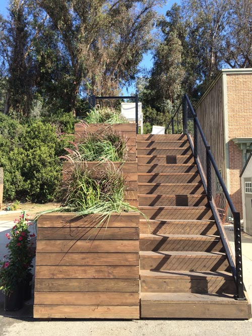 Planter Boxes & Stairs - Tiny House by Cargo Builders