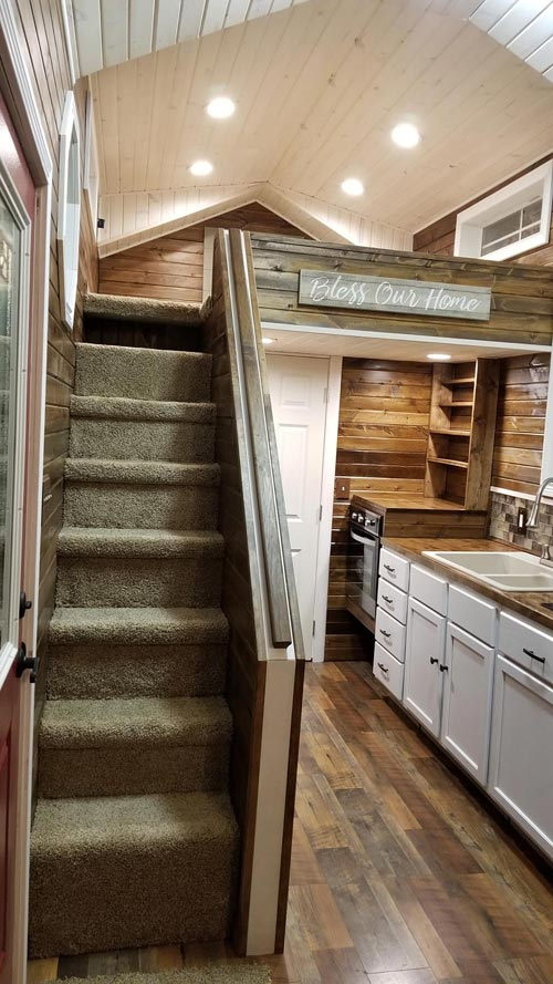 Carpeted Stairs - Islander by Titanium Tiny Homes