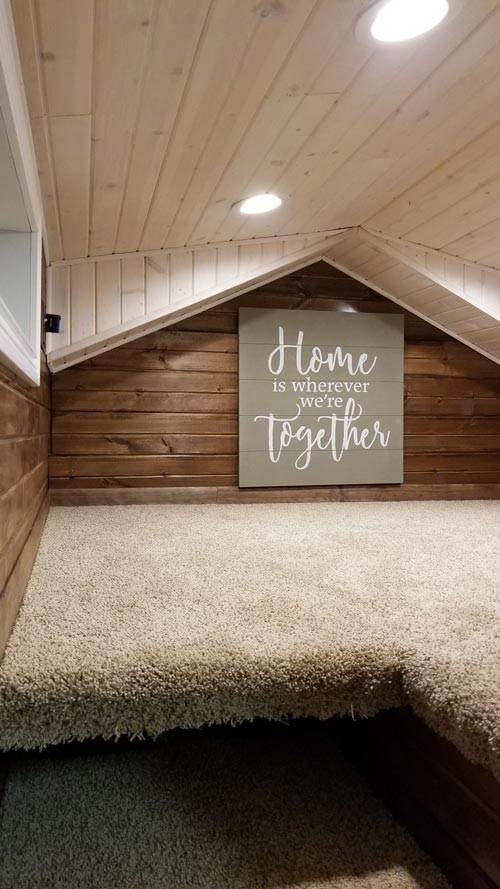 Carpeted Loft - Islander by Titanium Tiny Homes