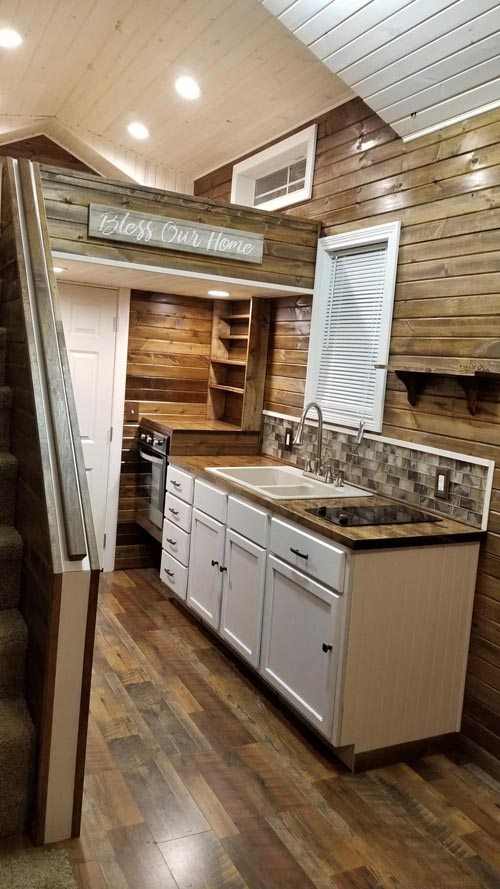 White Cabinets - Islander by Titanium Tiny Homes