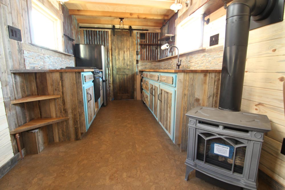 Galley Kitchen - JJ's Place by SimBLISSity Tiny Homes