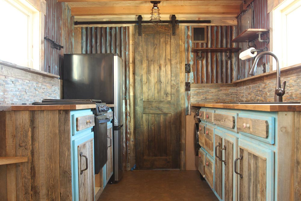 Rustic Kitchen - JJ's Place by SimBLISSity Tiny Homes