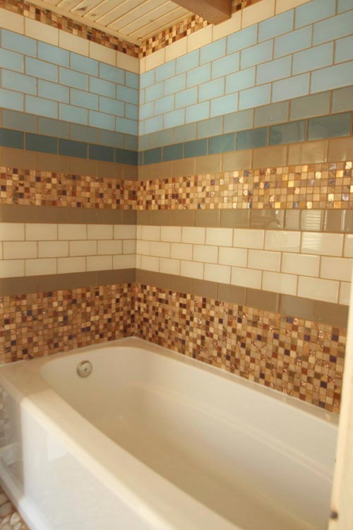 Tile Shower - Judy Blue Eyes by SimBLISSity Tiny Homes