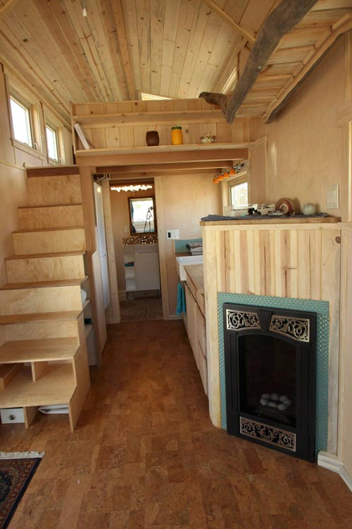 Fireplace & Storage Stairs - Judy Blue Eyes by SimBLISSity Tiny Homes