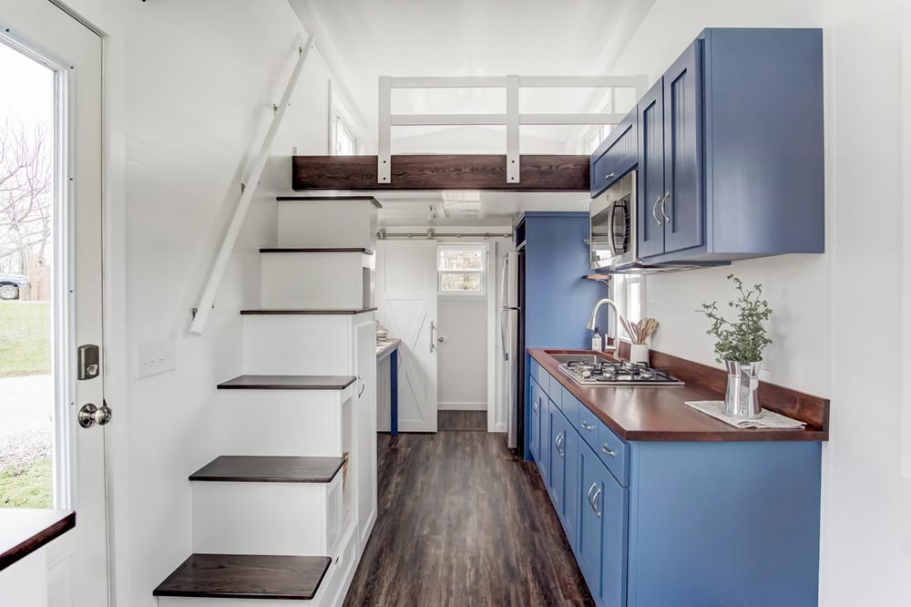 Kitchen & Stairs - Lodge by Modern Tiny Living