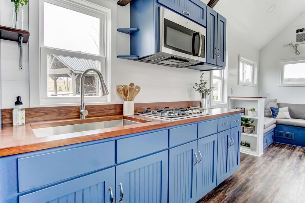 Custom Blue Cabinets - Lodge by Modern Tiny Living