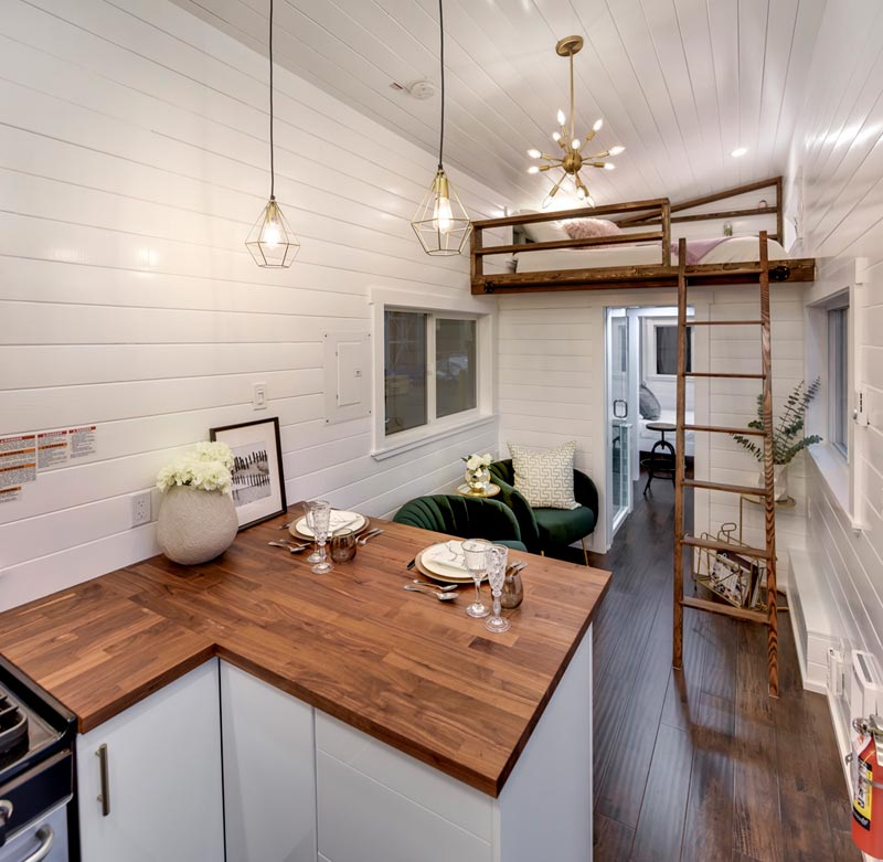 Living Room & Loft - Mint Loft #7 by Mint Tiny Homes