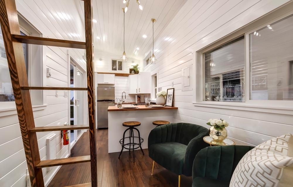 Living Room & Kitchen - Mint Loft #7 by Mint Tiny Homes