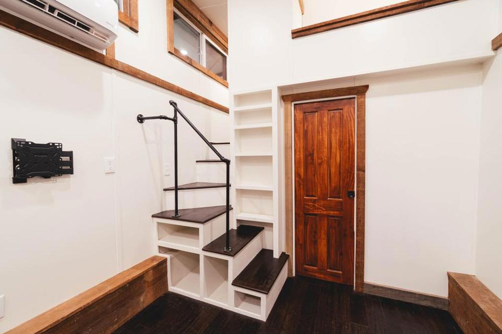 Staircase - Rustic Tiny by California Tiny House