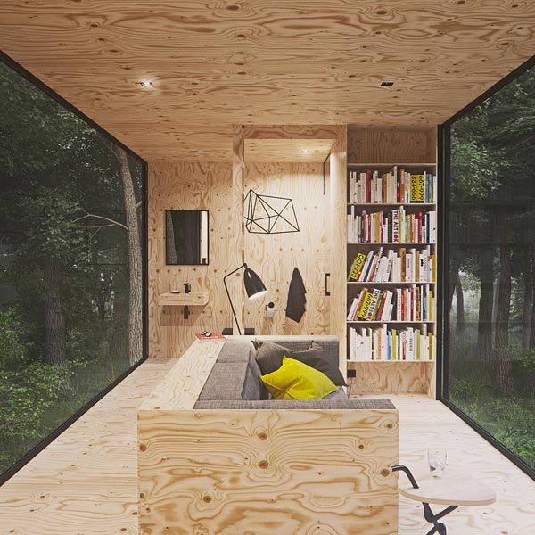Living Room - Slow Cabins in Belgium