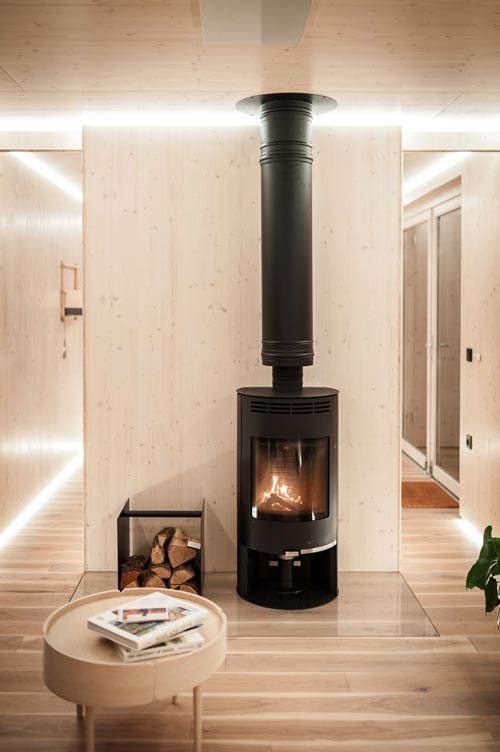 Wood Stove - Slow Cabins in Belgium