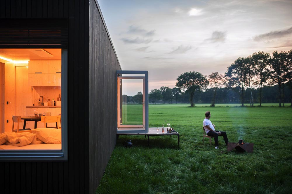 Patio - Slow Cabins in Belgium