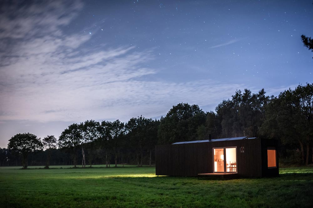 Nighttime View - Slow Cabins in Belgium