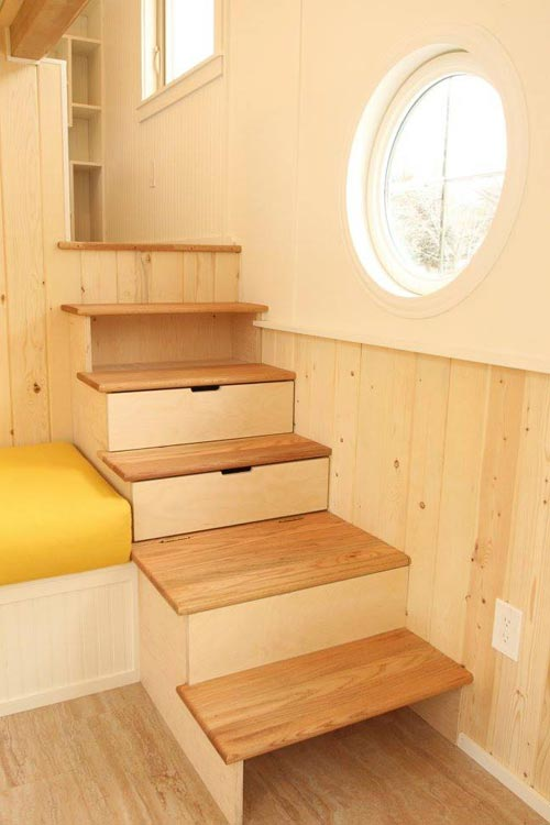 Storage Stairs - Valhalla by SimBLISSity Tiny Homes