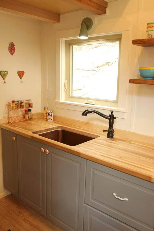 Butcher Block Counters - Valhalla by SimBLISSity Tiny Homes