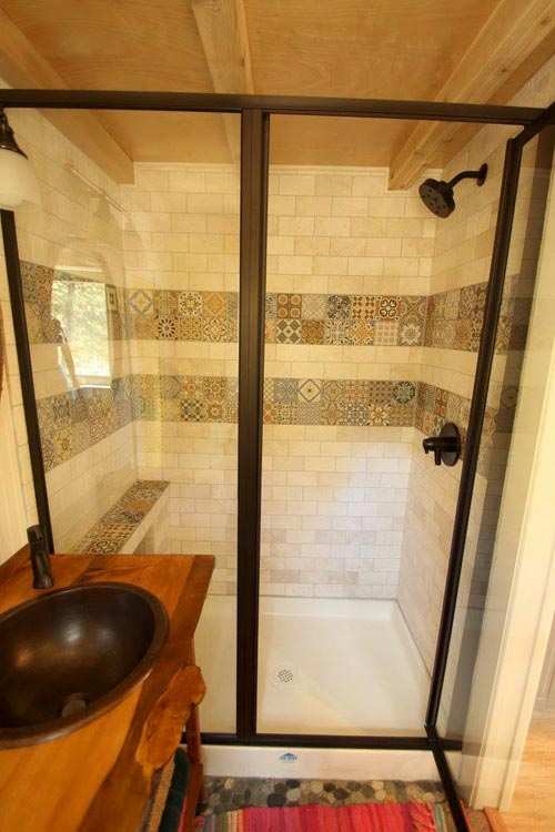 Tile Shower - Valhalla by SimBLISSity Tiny Homes