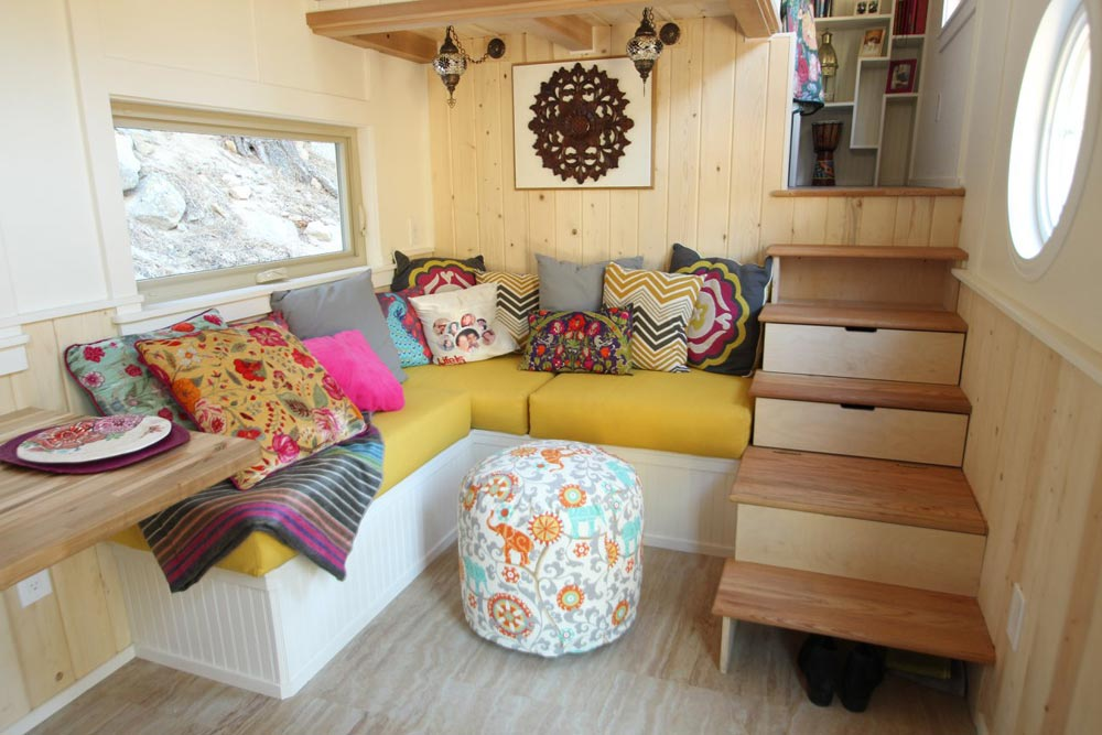 Built-In Couch - Valhalla by SimBLISSity Tiny Homes