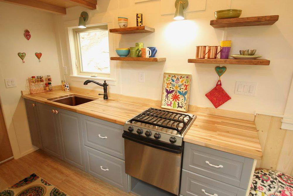 Galley Kitchen - Valhalla by SimBLISSity Tiny Homes
