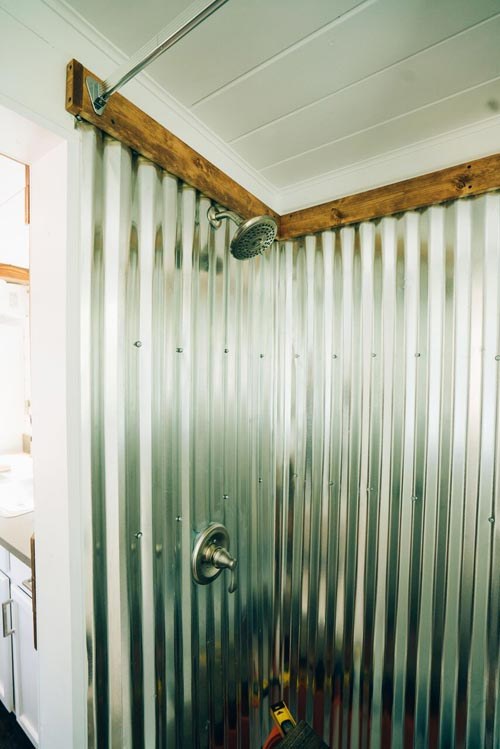 Corrugated Metal Shower - Zion by Alternative Living Spaces