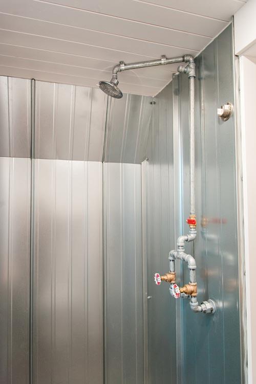 Metal Shower - Aspen by Borealis Tiny Homes