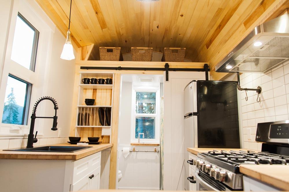 Kitchen & Bathroom - Aspen by Borealis Tiny Homes